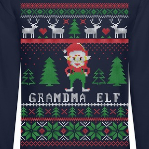 Grandma Elf Long Sleeve Shirts - Crewneck Sweatshirt