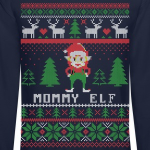 Mommy Elf Ugly Christmas Long Sleeve Shirts - Crewneck Sweatshirt