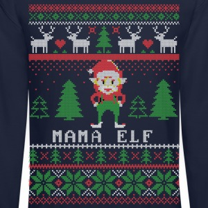 Mama Elf Ugly Christmas Long Sleeve Shirts - Crewneck Sweatshirt