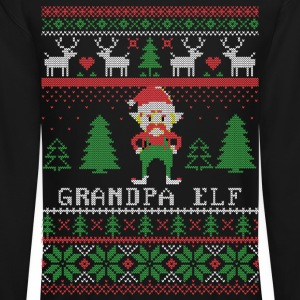 Grandpa Elf Long Sleeve Shirts - Crewneck Sweatshirt