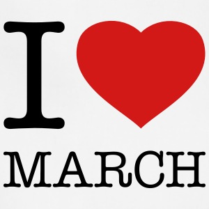 I LOVE MARCH - Adjustable Apron