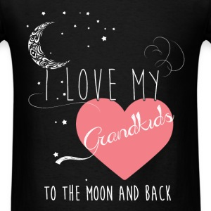 I love my grandkids to the moon and back  - Men's T-Shirt
