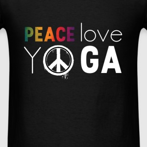 Peace love yoga - Men's T-Shirt