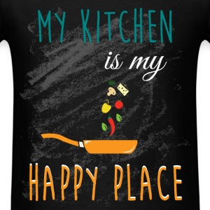 My kitchen is my  happy place - Men's T-Shirt