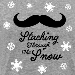 Staching Through The Snow T-Shirts - Men's Premium T-Shirt