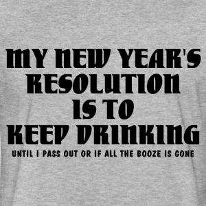 KEEP DRINKING RESOLUTION T-Shirts - Fitted Cotton/Poly T-Shirt by Next Level