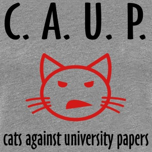cats against university papers T-Shirts - Women's Premium T-Shirt