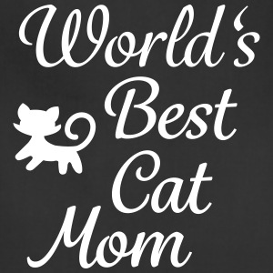 world's best cat mom Aprons - Adjustable Apron