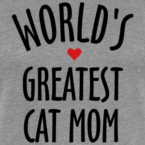 world's best cat mom T-Shirts - Women's Premium T-Shirt