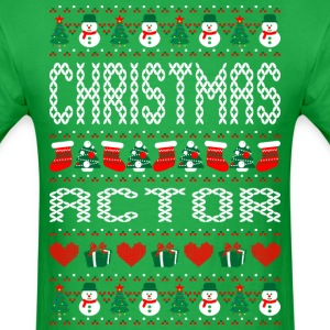 Christmas Actor Ugly Sweater T Shirt T-Shirts - Men's T-Shirt