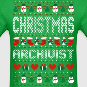 Christmas Archivist Ugly Sweater T Shirt T-Shirts - Men's T-Shirt