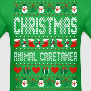 Christmas Animal Caretaker Ugly Sweater T Shirt T-Shirts - Men's T-Shirt