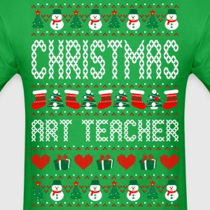 Christmas Art Teacher Ugly Sweater T Shirt T-Shirts - Men's T-Shirt