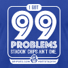 99 Problems, Stackin Chips Ain't One - Men's T-Shirt by American Apparel