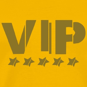 Gold star cool vip logo design lines line patterns T-Shirts - Men's Premium T-Shirt
