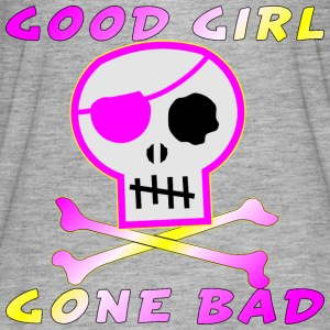 Good Girl Gone Bad Pirate Skull  - Women's Flowy T-Shirt