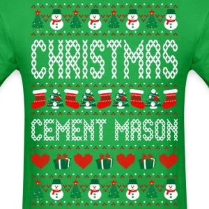 Christmas Cement Mason Ugly Sweater T Shirt T-Shirts - Men's T-Shirt