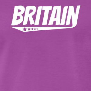 Britain Retro Comic Book Style Logo British - Men's Premium T-Shirt