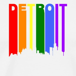 Detroit Michigan Rainbow LGBT Gay Pride - Men's Premium T-Shirt