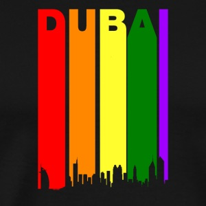 Dubai UAE Rainbow Skyline LGBT Gay Pride - Men's Premium T-Shirt