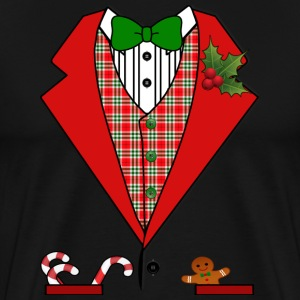 Christmas Tuxedo Suit T-shirt - Men's Premium T-Shirt