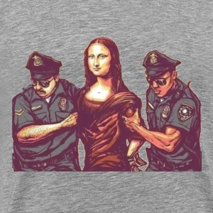 Mona Lisa Arrested - Men's Premium T-Shirt