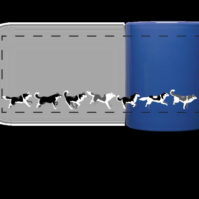 Husky Cups Siberian Husky Sled Dog Team Cups Mugs