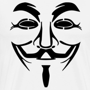 Anonymous - Guy Fawkes Mask T-Shirts - Men's Premium T-Shirt
