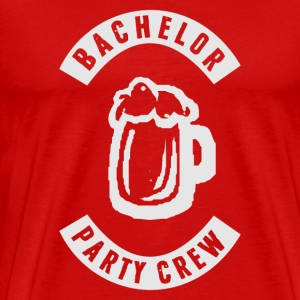 Bachelor Party Crew Patch T-Shirts - Men's Premium T-Shirt