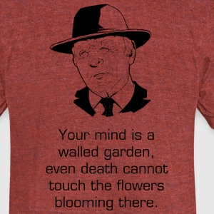 Man with a hat resembling ford from Westworld T-Shirts - Unisex Tri-Blend T-Shirt by American Apparel