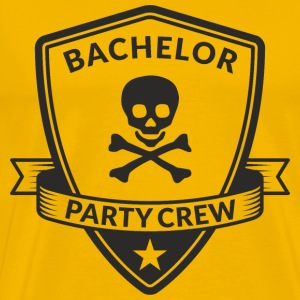 Bachelor Party Crew Emblem T-Shirts - Men's Premium T-Shirt