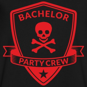 Bachelor Party Crew Emblem T-Shirts - Men's V-Neck T-Shirt by Canvas