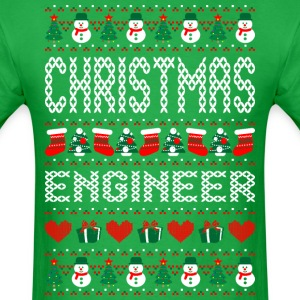 Christmas Engineer Ugly Christmas Sweater T-Shirts - Men's T-Shirt