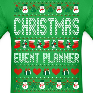 Christmas Event Planner Ugly Christmas Sweater T-Shirts - Men's T-Shirt