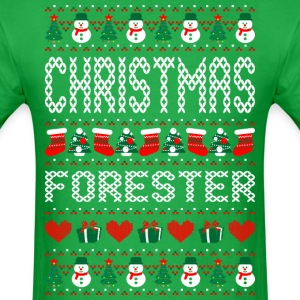 Christmas Forester Ugly Christmas Sweater T-Shirts - Men's T-Shirt