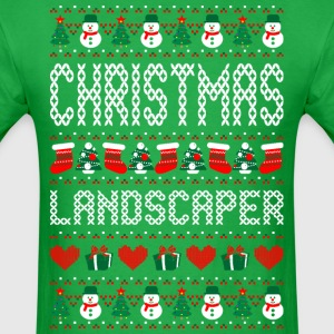Christmas Landscaper Ugly Christmas Sweater T-Shirts - Men's T-Shirt