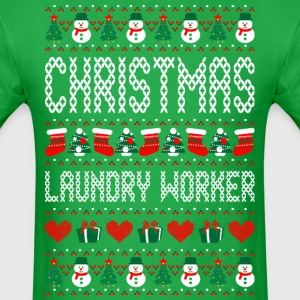 Christmas Laundry Worker Ugly Christmas Sweater T-Shirts - Men's T-Shirt