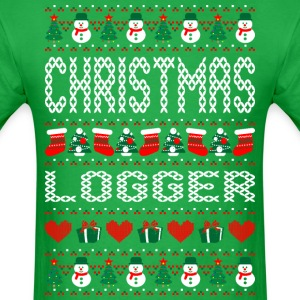 Christmas Logger Ugly Christmas Sweater T-Shirts - Men's T-Shirt