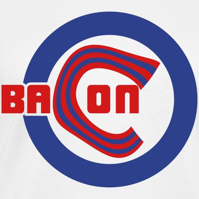 Chicago Bacon Baseball Womens V-Neck Tee