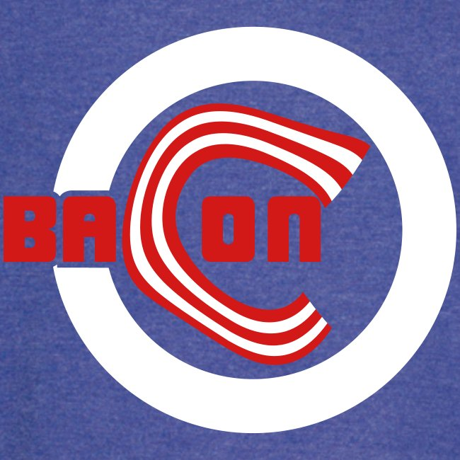 Chicago Bacon Baseball Vintage Sports Tee