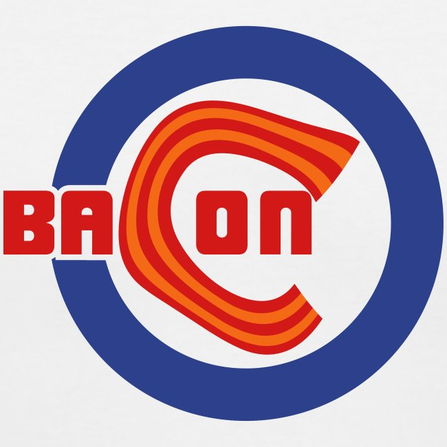 Chicago Bacon Baseball Ladies V-Neck Tee