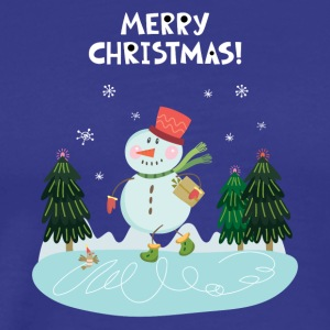 Cute Fun Snowman Merry Christmas - Men's Premium T-Shirt