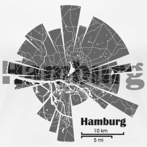 Hamburg Map T-Shirts - Women's Premium T-Shirt