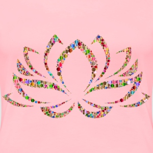 Colorful Lotus Flower Circles 4 - Women's Premium T-Shirt