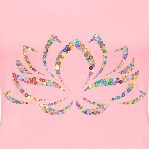 Colorful Lotus Flower Circles 2 - Women's Premium T-Shirt