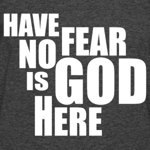 GOD IS HERE T-Shirts - Men's 50/50 T-Shirt
