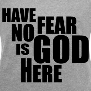 GOD IS HERE T-Shirts - Women´s Rolled Sleeve Boxy T-Shirt