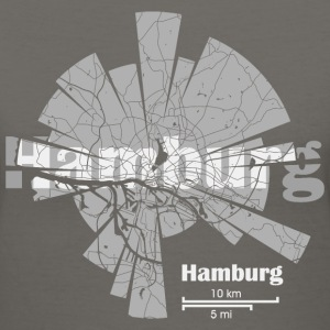 Hamburg Map T-Shirts - Women's V-Neck T-Shirt