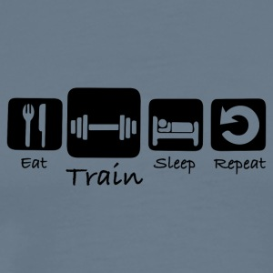 Eat Train Sleep Repeat - Men's Premium T-Shirt