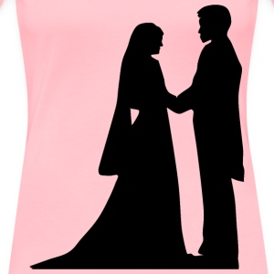 Marriage Silhouette - Women's Premium T-Shirt